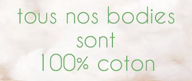 body 100% coton